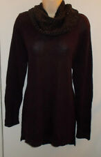 WOMENS SWEATER 1X DARK PLUM LONG SLEEVE EMBELLISHED APT. 9 NWT RETAIL $50