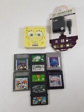 Game Boy Advance SP SpongeBob Edition Bundle - AGS-101 - BRIGHTER Backlit Screen