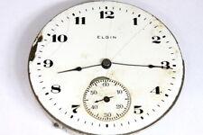 Elgin 17 jewels U.S.A. pocket watch movement for parts/restore - 137978