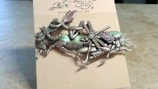 Grasshopper pin brooch silvertone Rare Kirks Folly crystal Fairy Dragonfly