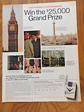 1968 Parliament Cigarettes Ad Enter Parliament's London Sweepstakes