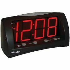 Westclox 66705 Oversized Snooze Alarm Clock, Black, 1.8""