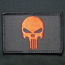 PUNISHER SKULL BLACK OPS RED USA TACTICAL VELCRO® BRAND FASTENER MORALE PATCH