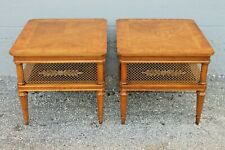 PAIR TRADITIONAL style ELABORATE SIDE TABLES - BRASS ELEMENTS - MID CENTURY