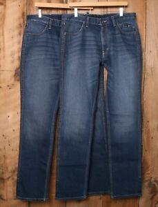 2 Pairs HARLEY DAVIDSON FXRG Armalith Denim Jeans Sz. 34x34 (Measure 36x35)