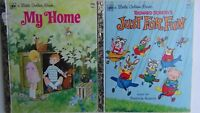2 Little Golden Books:My Home by R.Bartkowski & Richard Scarry's Just For Fun