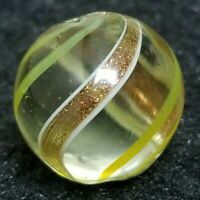 GORGEOUS BANDED LUTZ GERMAN SWIRL HANDMADE VINTAGE MARBLE ANTIQUE WITH PONTIL
