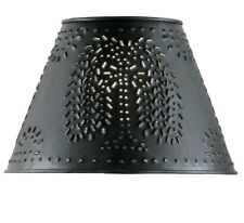 """Lamp Shade  - Punched Tin Metal Willow Tree in Black by Park Design - 10"""""""
