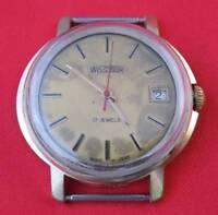 Vostok wrist watch Very RARE Gold plated vintage USSR Soviet wristwatch Serviced