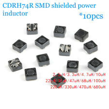 CDRH74R SMD shielded power inductor 2.2uH/3.3/4.7/10/22/33/47/100/220/470/680uH