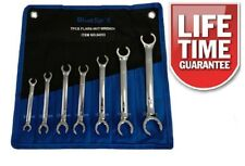 7PC FLARE TUERCA LLAVE Spanner Set Freno Tubería tubos de combustible de gas 8 a 24 mm FREEPOST!