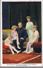 TUCK CARD THEIR MAJESTIES THE KING AND QUEEN OF THE BELGIANS AND THEIR CHILDREN
