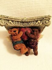 Boyds Bears Clarence & Raphael Angels Fly High Sconce Euc