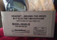 New David Clark Pilot Headsets