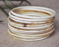 Natural Buffalo Horn Material Jewelry Bangles Set 10 Bracelets