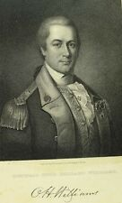 "1834 Original Gen. Otto Holland Williams Copper Plate Engraving 6 1/2"" X 10 1/8"""