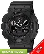 GA100-1A1 Casio G-Shock  Resin Quartz Watch Black with Black Dial