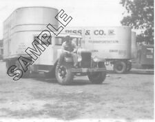 1930-1934 GMC Integral Sleeper RISS & CO., Kansas City, MO 8x10 B&W Glossy Photo