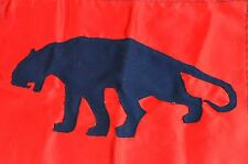vintage boy scout flag red panther saber tooth tiger cougar hand made stitched