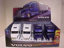 Pack of 4 Volvo VN-780 Sleeper Semi Tractor Rig Truck 1:32 NewRay 12 inch BLU WH