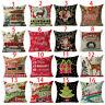 Xmas Series Pillow Case Cotton Linen Pillow Cushion Cover Throw Home Decor