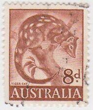 (PDX567) 1959 AU 8d Brown Tiger Cat (C)