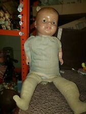 """Antique Early 1900's Composition  """"Hug Me"""" A Kiddie Pal Dolly 24"""""""