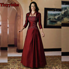 Vintage Burgundy Mother of the Bride Dresses with Jacket Plus Size Custom Made