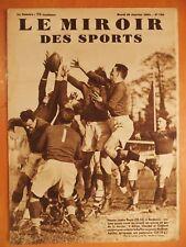 Miroir des Sports 748-30/1/1934-Rugby-France contre Reste 22-16-Claudel-Griffard