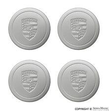 Center Cap Set (4), w/o Access Holes, Ring Clip, Silver, Porsche, 911.361.032.00