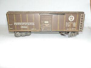 "MARX O SCALE PENNSYLVANIA RAILROAD BOXCAR #70311 ""AS IS"" (F68-1)"