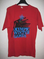 Tee-shirt ADIDAS vintage Olympic Winter Games JO rouge S