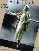 Minerva #41a c.1935 Hard to Find Pattern Book 1930's Fashion Knitting Patterns