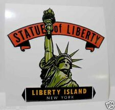 New York City Statue of Liberty Vintage Style Travel Decal/Vinyl Luggage Sticker