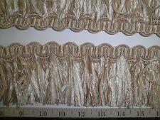 "9 yards Elegant RIBBON SKIRT FRINGE 3"" TAN/CREAM/IVORY Decorative Fabric Trim W3"