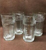 Vintage LIBBEY GLASS COMPANY * Radiant * 15 Oz Flat Tumbler * Set of 4 * EUC