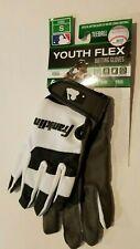New listing Boys Girls Franklin Youth Flex Batting White & Black Gloves Teeball Size Small