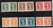 Canada #231c - #236a Extra Fine Never Hinged Imperf Pair Set