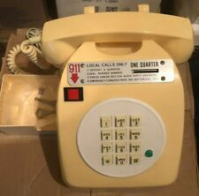 Vintage Retro Desktop Public Quarter Pay Phone - Includes 2 Keys