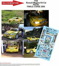 Decals 1/43 Ref 1102 Renault Megane Kit Car Pietri Final Corse 2005