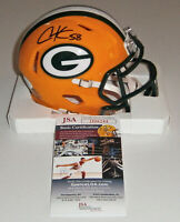 PACKERS Christian Kirksey signed SPEED mini helmet w/ #58 JSA COA AUTO Autograph