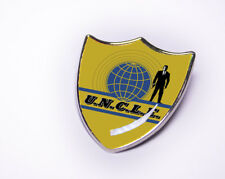 Retro Man from Uncle Inspired Shield Pin Badge