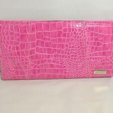 Miche Petite clutch purse shell bag Bubblegum pink faux alligator print