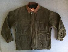 Australian Outback Jacket Waxed Oilskin Duster Waterproof Leather Coat Men M EUC