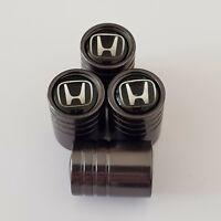 HONDA Titanium Grey valve Tyre Dust Caps Plastic Inside all models CIVIC ACCORD