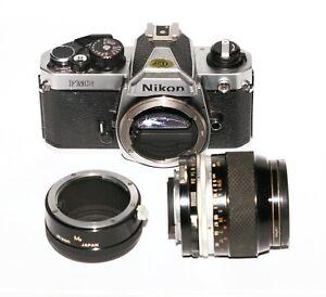 Vintage Exc.+ Nikon New FM2 FM2N 35mm SLR Film Camera with Nikon 55mm f3.5 P-aut