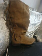 Ladies Bronx olive Leather suede Boots Size 6 (39) rp £100