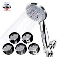 5 Mode Sprays Shower Head Hand Held High-Pressure Functional Bathroom Set+Holder