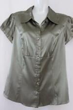 Target Polyester Cap Sleeve Solid Tops & Blouses for Women