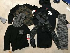 boys lot 5 shirts pants hoodie 4T carters epic threads pants joggers camouflage